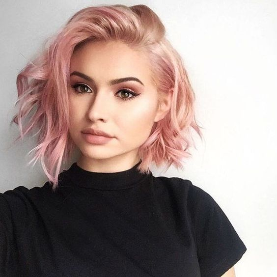 The Cotton Candy Pink Bob for Short Hair 2