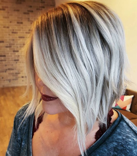 The Platinum Balayage Bob for Short Hair 3