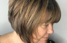 45 Short Hairstyles for Grey Hair and Glasses that Make Older Women Still Looking Stylish angled_bob_hairdo_for_older_Women_5-235x150