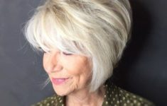 45 Short Hairstyles for Grey Hair and Glasses that Make Older Women Still Looking Stylish bouncy_bob_short_haircut_with_layers_5-235x150