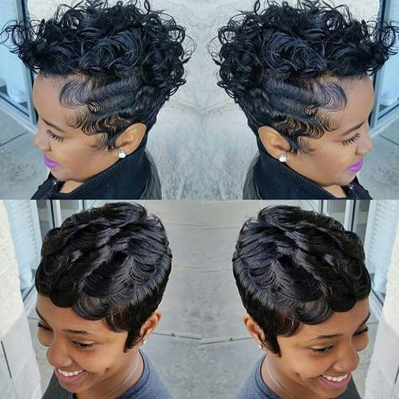 45 Finger Waves Hairstyles for Short Black Hair to Spice up the Strict Style for Your Hair c62892a0bec6a41d9f2cf3758c53c7af