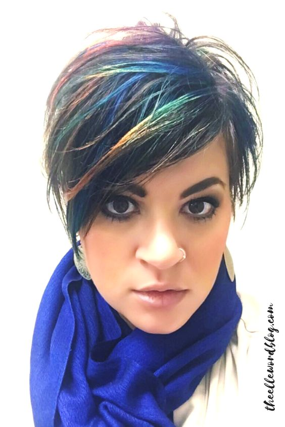 The Multi Color Asymmetrical Long Pixie 4
