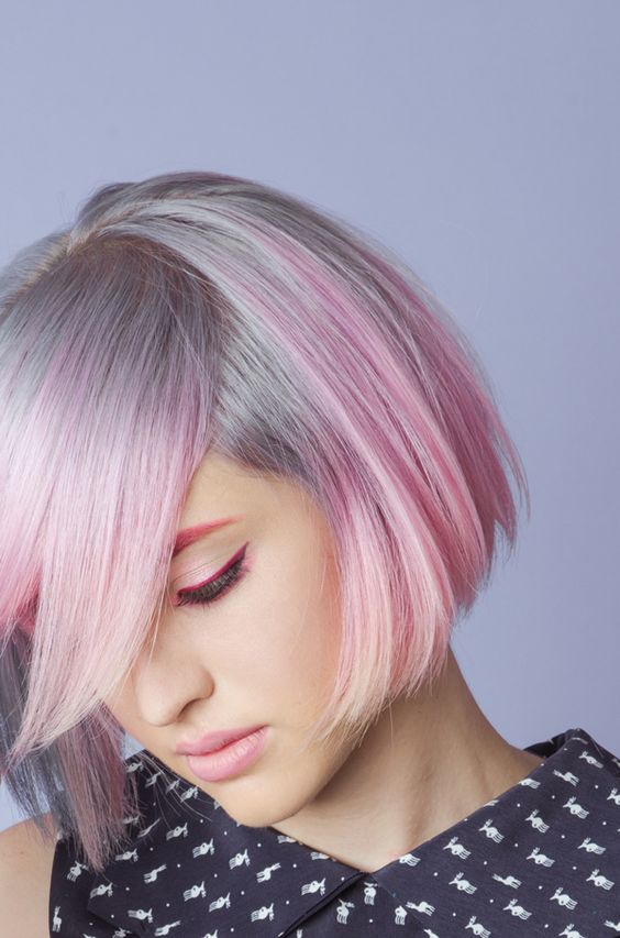 The Cotton Candy Pink Bob for Short Hair 5