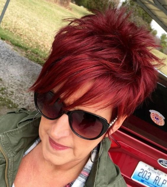 The Fiery Red Pixie Haircut for Fine Hair 5