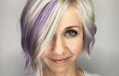 45 Short Hairstyles for Grey Hair and Glasses that Make Older Women Still Looking Stylish layered_platinum_bob_1-235x150