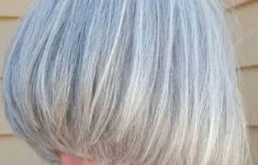 45 Short Hairstyles for Grey Hair and Glasses that Make Older Women Still Looking Stylish layered_platinum_bob_4-235x150