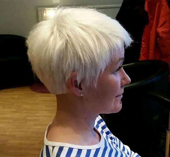 Pixie Undercut Hairstyle with Grey Hairs 2