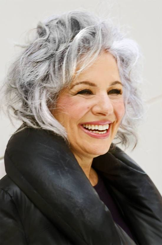 wavy_bob_with_bangs_with_the_gray_hair_3 - Short Hairstyles 2020