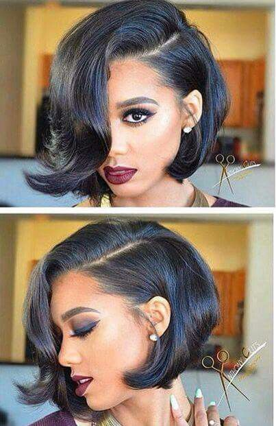 Sleek Bob Do with Twisted Bangs 1