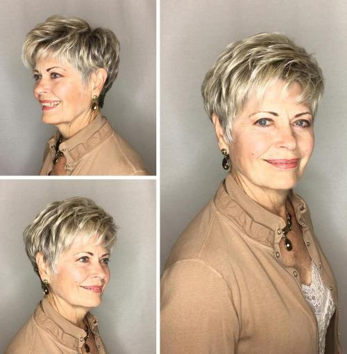 10 Prettiest Pixie Haircuts for Women over 60 12-feathered-blonde-pixie-for-older-women