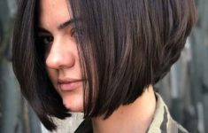 Cool Short Stacked Bob Hairstyle 2