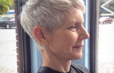 10 Prettiest Pixie Haircuts for Women over 60 13-older-womens-gray-pixie-hairstyle-235x150