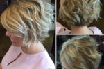 Curly Blonde Crop Stacked Haircut 4