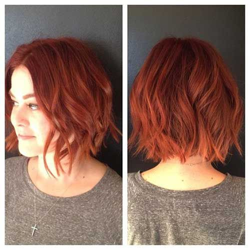 Ginger Red Bob with High Layers 1