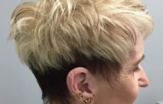 50 Gorgeous Wedge Haircuts for Women over 60 That You Can't Miss 4-brown-and-blonde-pixie-for-women-over-50-235x150