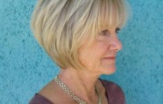 50 Gorgeous Wedge Haircuts for Women over 60 That You Can't Miss 5-over-60-blonde-bob-with-bangs-235x150