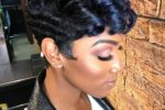 Mohawk Like Up Brushed Hairdo 5
