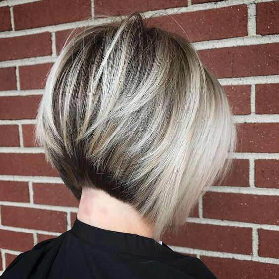 Feathered Stacked Bob Hairstyle 1
