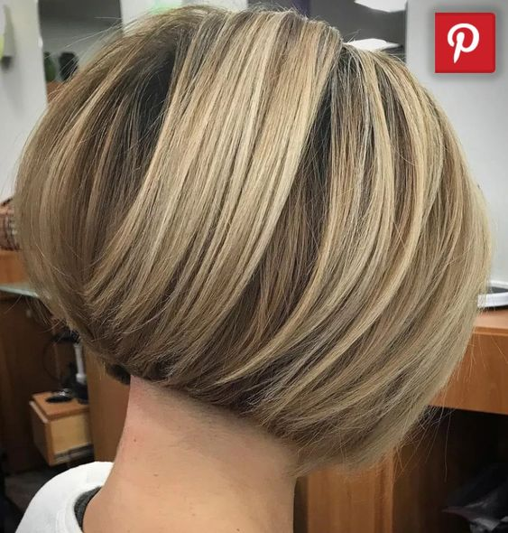 Cool Short Stacked Bob Hairstyle 1