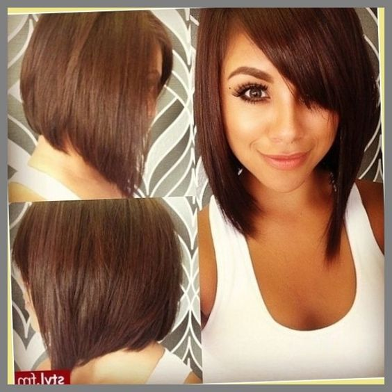 Brown A-Line Stacked Bob Style 3