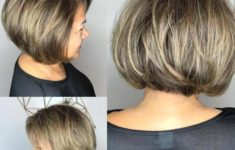 50 Gorgeous Wedge Haircuts for Women over 60 6-rounded-brown-blonde-bob-over-60-235x150