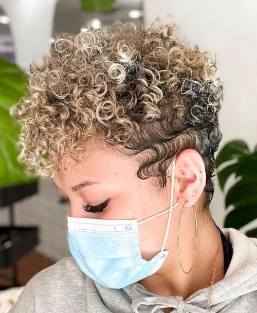 90 Gorgeous Short Curly Hairstyles for Women Over 50 (Updated 2021) Ash-blond-with-highlights