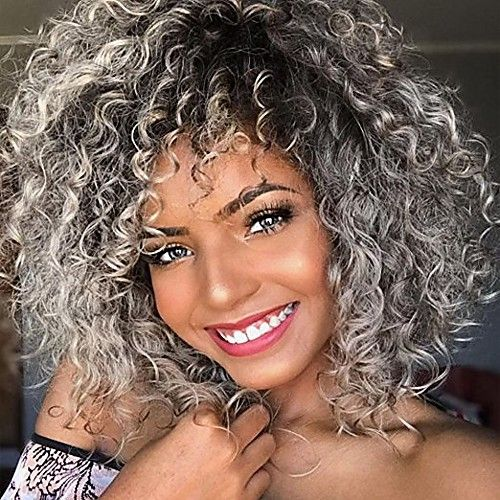 90 Gorgeous Short Curly Hairstyles for Women Over 50 (Updated 2021) Ash-blonde-highlights