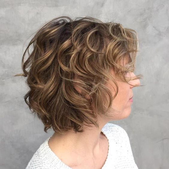 90 Gorgeous Short Curly Hairstyles for Women Over 50 (Updated 2021) Beach-wave-hair