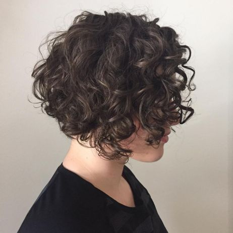 90 Gorgeous Short Curly Hairstyles for Women Over 50 (Updated 2021) Chin-length-blunt-bob