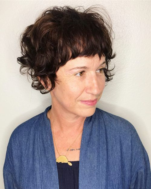 90 Gorgeous Short Curly Hairstyles for Women Over 50 (Updated 2021) Choppy-pixie-cut