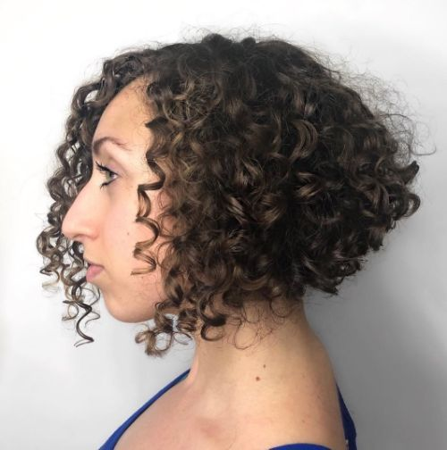 90 Gorgeous Short Curly Hairstyles for Women Over 50 (Updated 2021) Graduated-bob