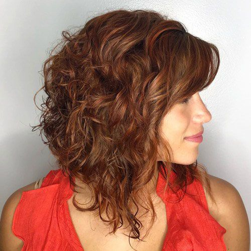 90 Gorgeous Short Curly Hairstyles for Women Over 50 (Updated 2021) Long-bob-haircut