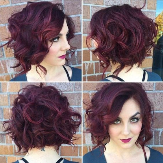 90 Gorgeous Short Curly Hairstyles for Women Over 50 (Updated 2021) Long-pixie-bob