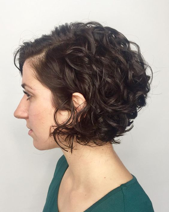 90 Gorgeous Short Curly Hairstyles for Women Over 50 (Updated 2021) Reverse-wedge-haircut