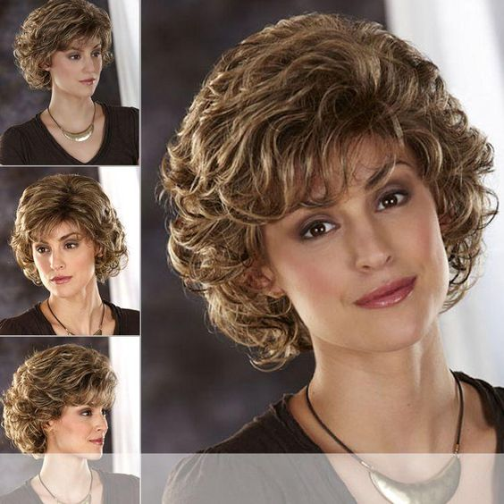 90 Gorgeous Short Curly Hairstyles for Women Over 50 (Updated 2021) Short-shaggy-hairstyle