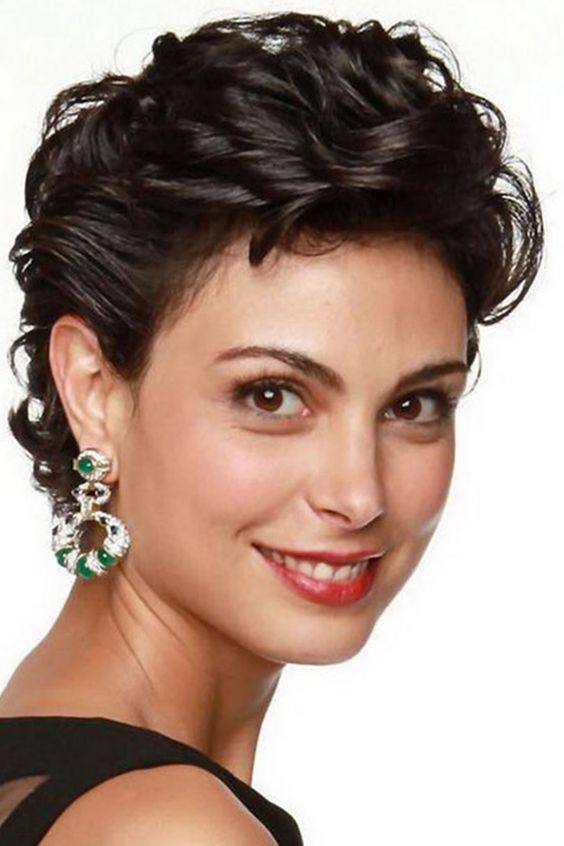 90 Gorgeous Short Curly Hairstyles for Women Over 50 (Updated 2021) Side-sweep-curls