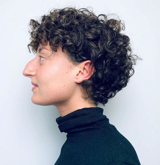 90 Gorgeous Short Curly Hairstyles for Women Over 50 (Updated 2021) Spiral-curls-pixie
