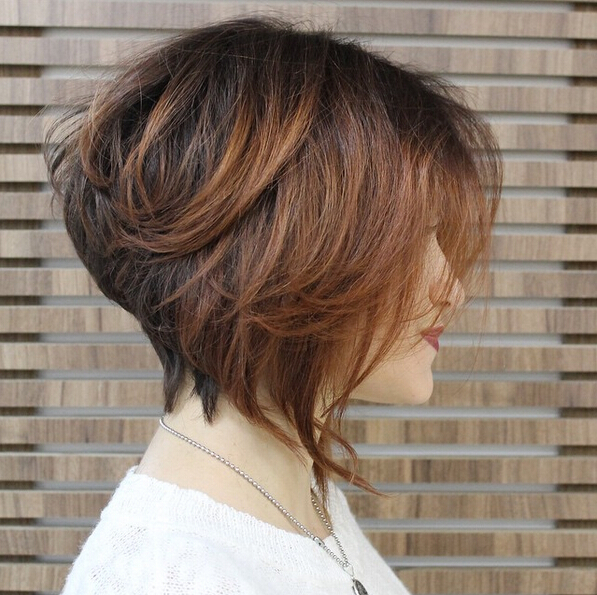 Wedge Bob Straight Short Hairstyle 5 Stacked-Bob-Hairstyle-for-Ombre-Hair