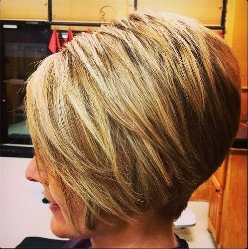 Angled Short Wedge Haircuts for Women 5