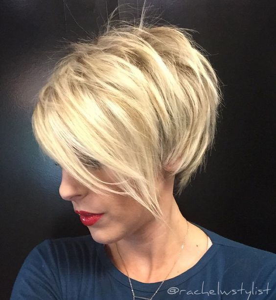 Short Sassy Cut with Bold Bright Bangs 4