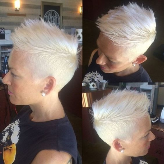 Snazzy Boy-cut with Quiff on Gray and White Hair  2 cddb87be3e0b72d5d9fd15d7d8666d80