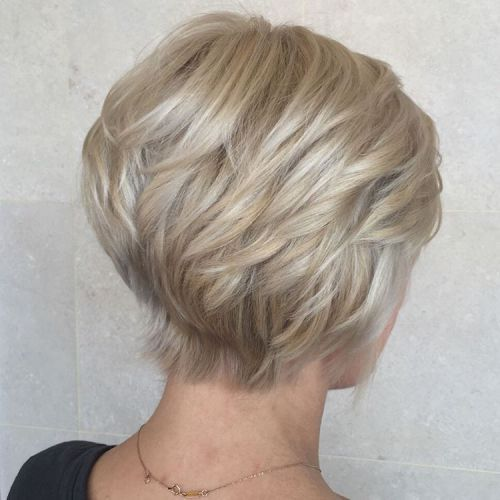 Layered Short Wedge Haircut 1