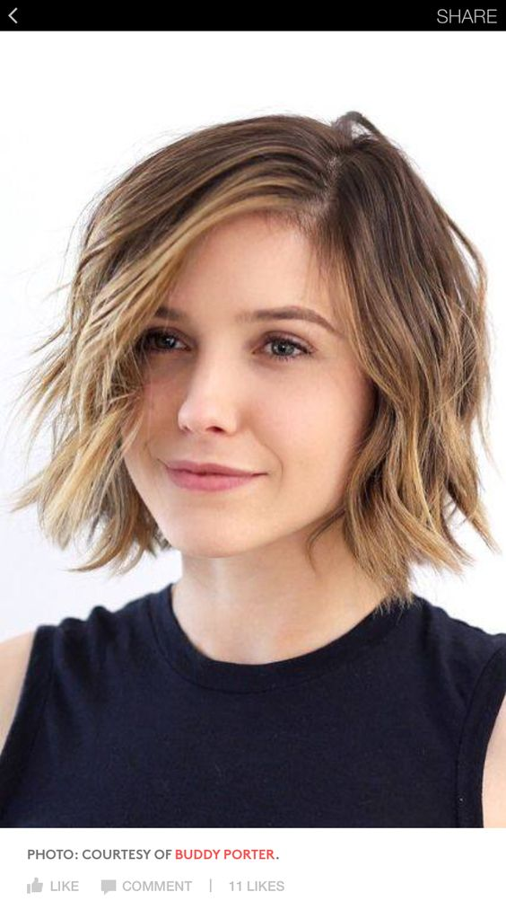 40 Stacked Hairstyles for Short Thin Hair Round Faces to Make You Look More Likeable d681ff9d597a32ac9a6ef35c1e3efe3b