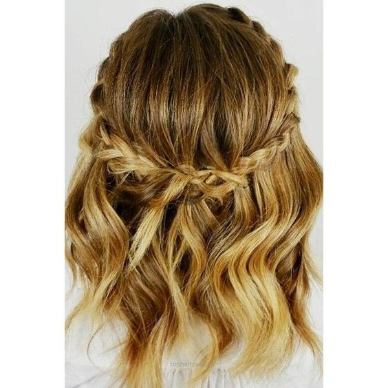 Classic Pinned Style with Braids 5