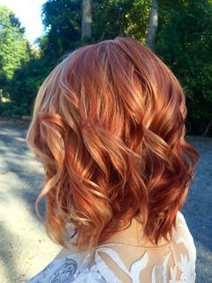 Ginger Red Bob with High Layers 5