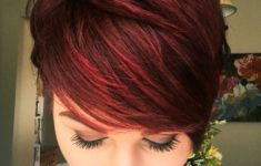 50 Most Favorite Short Wedge Haircuts For Women Over 40 short-dark-red-hairstyles-235x150