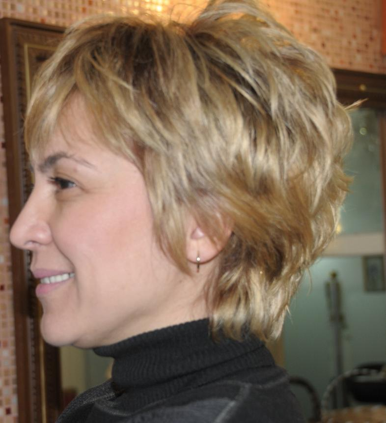 Layered Short Wedge Haircut 4