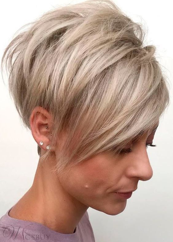 30 Inspiring Pixie Haircuts for Women Over 60 Years Old (Updated 2021) Long-tapered-pixie-haircut