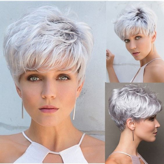 30 Inspiring Pixie Haircuts for Women Over 60 Years Old (Updated 2021) Messy-pixie-cut