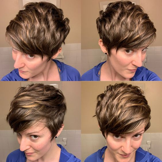 30 Inspiring Pixie Haircuts for Women Over 60 Years Old (Updated 2021) Pixie-cuts-with-highlights